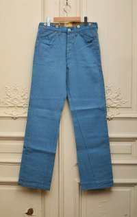 "Heller's cafe ヘラーズカフェ ""5POCKETS DENIM BACKSTRAP""   col.WASHED BLUE"