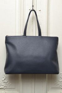 "TSATSAS ツァツァス ""LUCID NINETY L"" Leather Shoulder / Hand Bag  col.NAVY"
