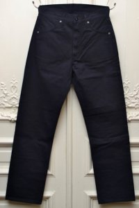 "TUKI ツキ ""duck tail pants high count denim""    col.ink blue(97)"