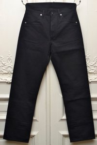 "TUKI ツキ ""duck tail pants high count denim""    col.blue black(99)"