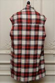 "画像5: Lucio Vanotti ""Plaid Check Double breasted Sleeveless Jacket"" col.Navy Base (5)"