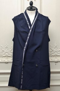 "Lucio Vanotti ""Double breasted Sleeveless Jacket"" col.Navy"