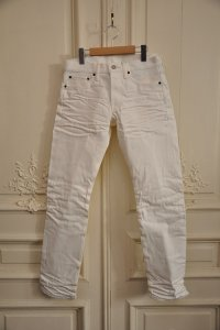 "FABRIC BRAND "" ARIEL  - SELVEDGE SLIM FIT"" col.WHITE(10)"