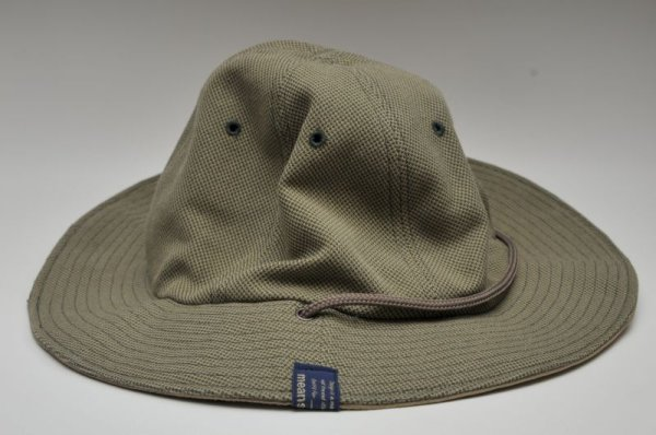 """画像2: meanswhile """" Ventile / Cotton Birds Eye Reversible Hat """" col.BEIGE"""