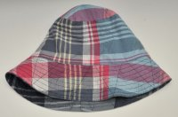 "Engineered Garments ""Bucket Hat-BIG PLAID"" col.NAVY"