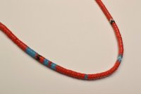 "MIKIA ""Snake Beads Necklace"" Col.RED"