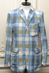 "Engineered Garments "" BAKER JACKET - PATTERN BLOCK "" col.LTGHT.BLUE"