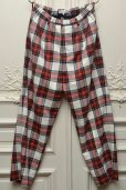 "画像1: Lucio Vanotti "" Plaid Check Wide Easy Trousers "" col.Navy Base (1)"