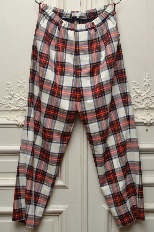 "画像1: Lucio Vanotti "" Plaid Check Wide Easy Trousers "" col.Navy Base"