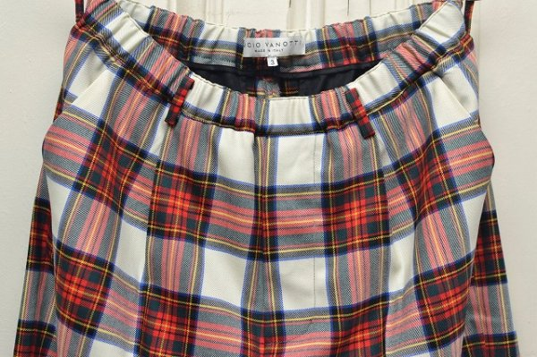 "画像2: Lucio Vanotti "" Plaid Check Wide Easy Trousers "" col.Navy Base"