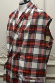"画像3: Lucio Vanotti "" Plaid Check Double breasted Sleeveless Jacket "" col.Navy Base"