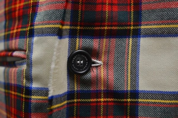 "画像2: Lucio Vanotti "" Plaid Check Double breasted Sleeveless Jacket "" col.Navy Base"