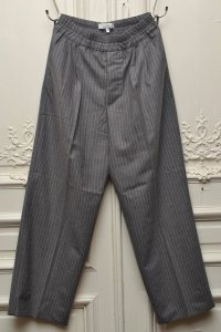 "Lucio Vanotti ""Stripe Wide Easy Trousers"" col.Taupe"