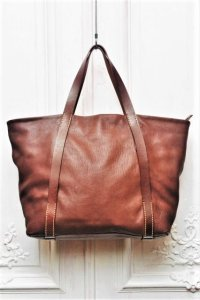 "STYLE CRAFT "" DEERSKIN BIG TOTE BAG "" col.DARK BROWN"