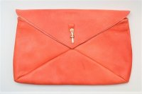"m.a+ "" ENVELOPE CLUTCH "" col.KANGEROO LEATHER TIGERLILY RED"