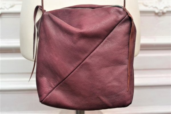 "画像2: m.a+ "" ONE PIECE SMALL BOX MESSENGER BAG "" col.WINE"