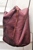 "画像5: m.a+ "" ONE PIECE SMALL BOX MESSENGER BAG "" col.WINE"