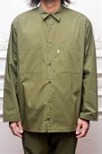 "画像10: Graphpaper "" Stretch Typewriter Long Sleeve Box Shirt "" col.KHAKI (10)"