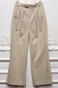 "Casely-Hayford "" DOWNEY - WIDE SWITCHING TROUSER "" col.Light Khaki"