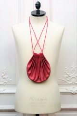 "m.a+ ""SMALL SHELL HAND BAG"" col.REVERSED GOAT LEATHER PERSIAN RED"