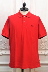 "JUNYA WATANABE COMME des GARCONS MAN x LACOSTE "" S/S Polo Shirt - Garment dye "" col.Red"