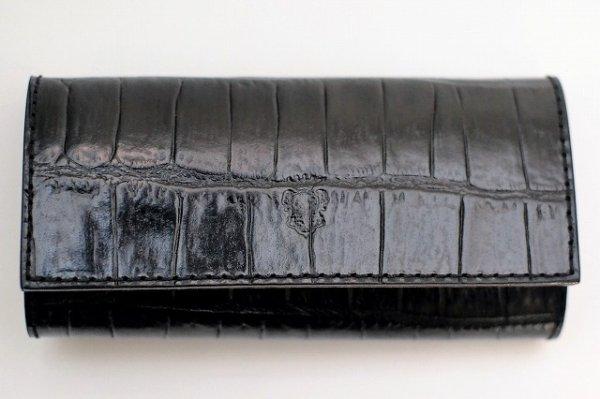 """画像1: Felisi """" 921/SA Key Case - Embossed Crocodile """"   col.BLACK"""