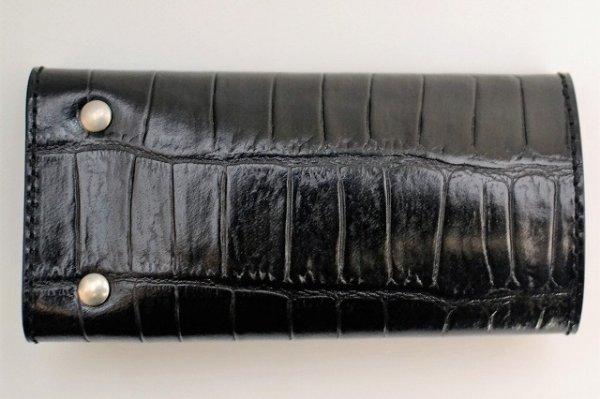 """画像2: Felisi """" 921/SA Key Case - Embossed Crocodile """"   col.BLACK"""