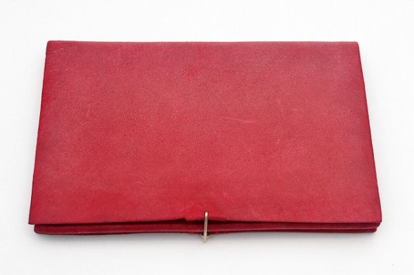 "画像1: m.a+ "" EXTRA LARGE WALLET WITH HOOK "" col.REVERSED GOAT LEATHER PERSIAN RED"