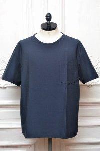 """MITMOS MITMOR """" cool max seersucker T-shirts """" col.NAVY"""