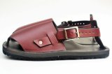 "JUTTA NEUMANN "" Jeff - Leather Sandals Closed Toe "" col.BURG"