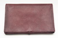 "m.a+ "" EXTRA LARGE WALLET "" col.PIG LEATHER WINE(LIGHT)"