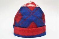 "Engineered Garments "" Long Beanie - Navajo Knit "" col.Red/Royal"