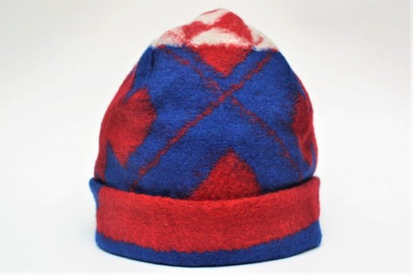 "画像1: Engineered Garments "" Long Beanie - Navajo Knit "" col.Red/Royal"