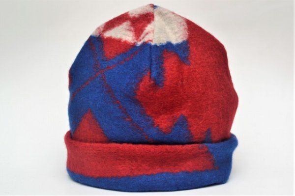 "画像2: Engineered Garments "" Long Beanie - Navajo Knit "" col.Red/Royal"