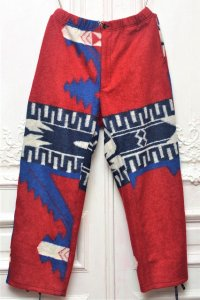 "Engineered Garments "" Jog Pant - Navajo Knit "" col.Red/Royal"