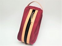 "CRUD "" MYR DOPP KIT "" col.RED × NATURAL"