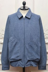 "O- (0-CHO-RUI.LAB) "" FLEECE HIGH-NECK BLOUSON "" col.Blueberry"