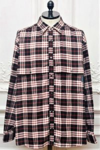 "O- (0-CHO-RUI.LAB) "" OVER FLAP SHIRTS "" col.Black x Red"