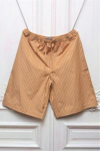 "Cristaseya "" Striped Cotton Bermuda "" col.Ocher Stripes"