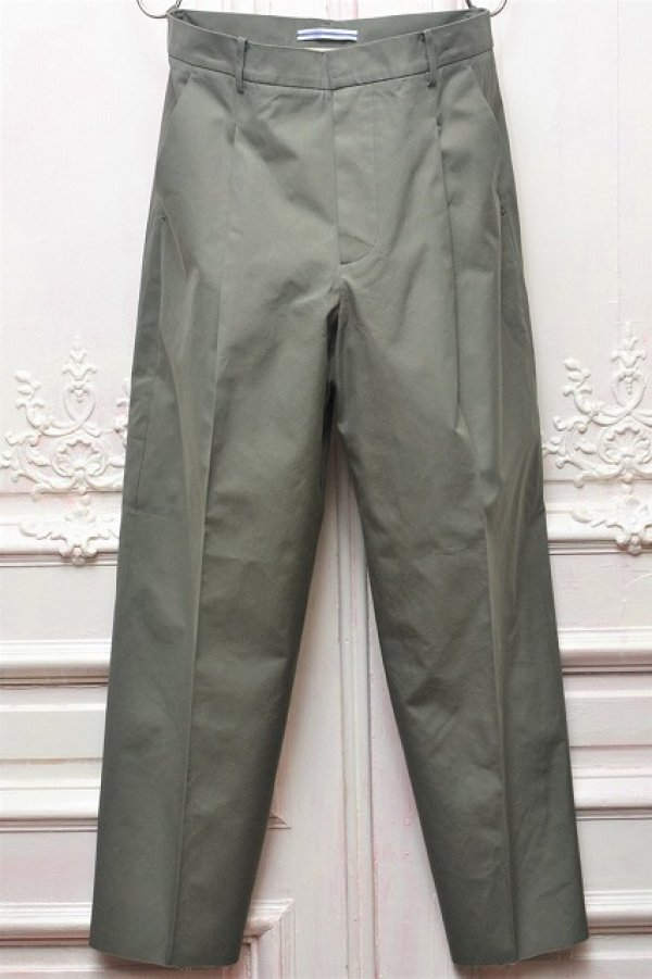 "画像1: Cristaseya "" Cotton Pleated Summer Trousers "" col.Light Petrol"