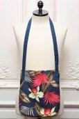 """画像2: Engineered Garments """" Shoulder Pouch - Hawaiian Floral Java Cloth """" col.Navy (2)"""