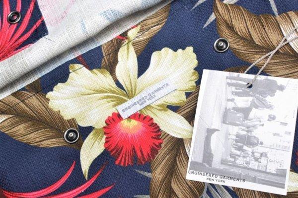 """画像3: Engineered Garments """" Shoulder Pouch - Hawaiian Floral Java Cloth """" col.Navy"""