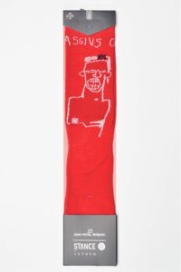 "STANCE "" SOCKS - BASQUIAT CASSIUS "" col.RED"