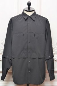 "O- (0-CHO-RUI.LAB) "" Double Sleeve Shirt "" col.Black"