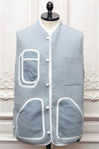 "BYBORRE "" Vest - I3 ""  col.Dusty Blue"