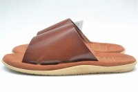"Island Slipper "" Leather Slipper - combi "" col.Cognac"