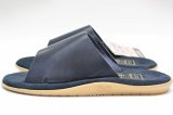 "Island Slipper "" Leather Slipper - combi "" col.Navy"