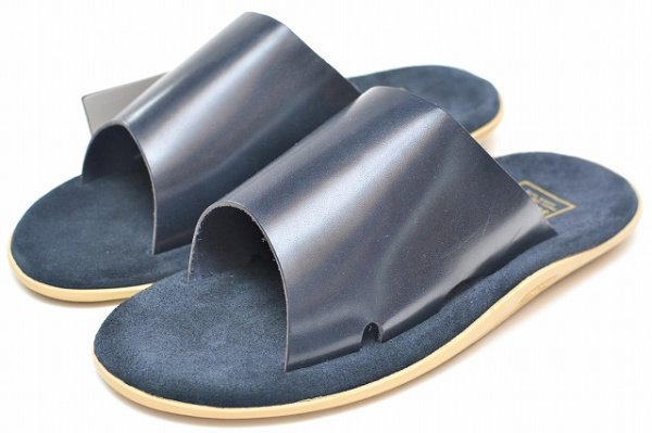"画像2: Island Slipper "" Leather Slipper - combi "" col.Navy"