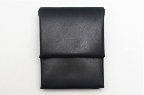 "画像1: ED ROBERT JUDSON "" HUGHES - Flat Oil Smooth Mini Wallet "" col.BLACK(05)"