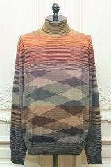 "MISSONI "" Multicolour Long Sleeve Mock Neck Sweater "" col.612"